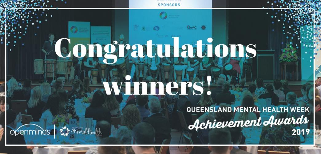 QLD Mental Health Achievement Award winners!