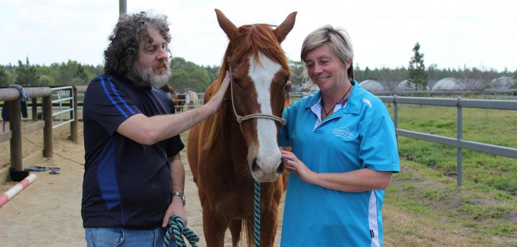 Working with horses is proving beneficial for David